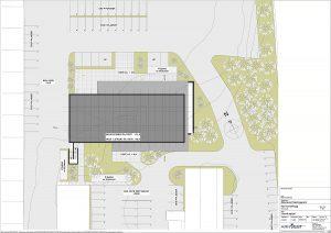 Nytt kontorbygg - utomhusplan
