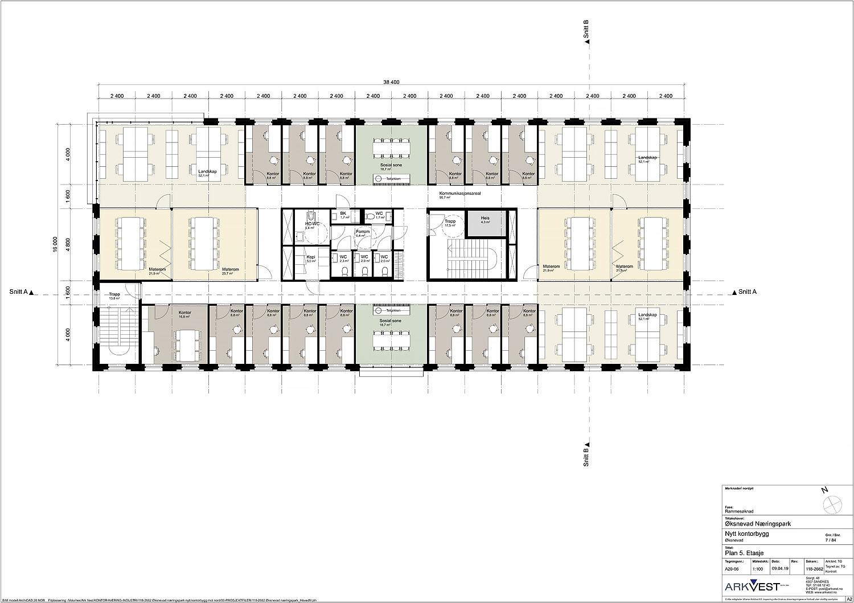 Nytt kontorbygg - Plan 5. etasje