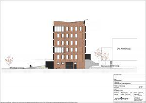 Nytt kontorbygg - Fasade Vest
