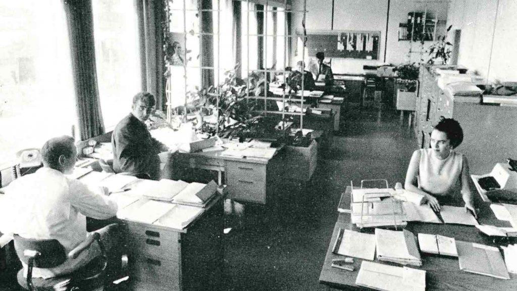 Øksnavad Næringsprak - kontormiljø 1969