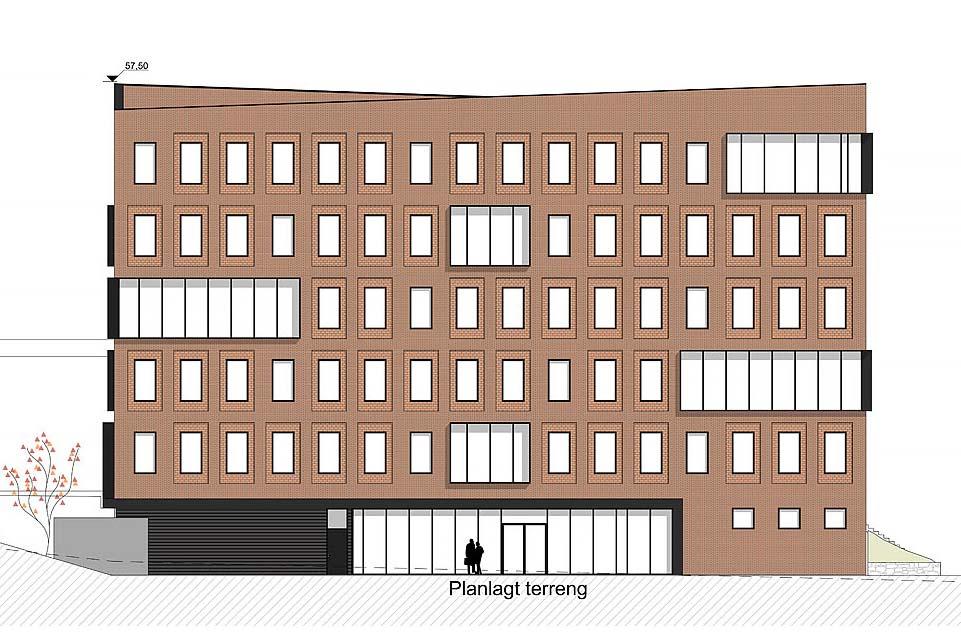 Nytt kontorbygg - Fasade Nord